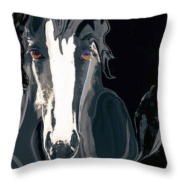 Lungta Windhorse No. 2-energy Throw Pillow