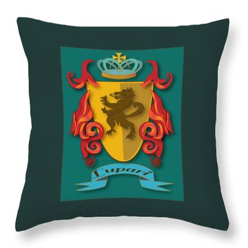 Lupari Family Crest Throw Pillow