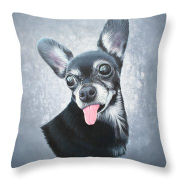 Throw Pillow featuring the painting Lupe by Mike Ivey