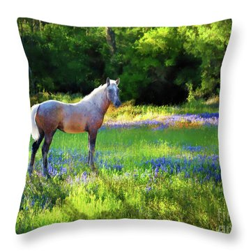 Throw Pillow featuring the photograph Lupine Delight by Melinda Hughes-Berland