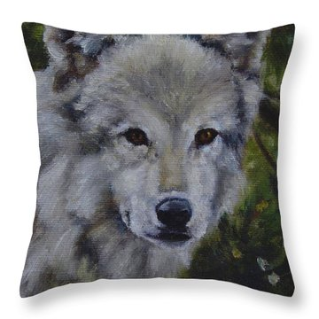 Lupine Gaze Throw Pillow