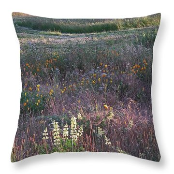 Lupine Throw Pillow by Laurie Stewart