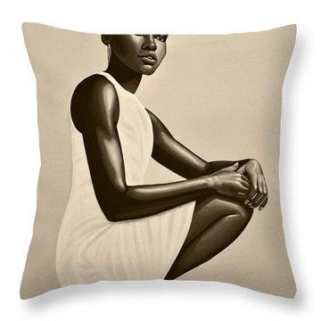 Lupita Nyong'o Throw Pillow