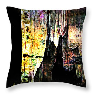 Luray Cavern Abstract 2 Throw Pillow