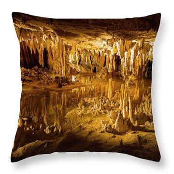 Luray Caverns Throw Pillow