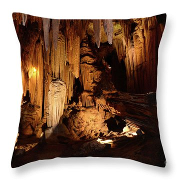 Luray Dark Caverns Throw Pillow by Paul Ward
