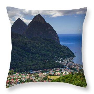 Lure Of Saint Lucia Throw Pillow