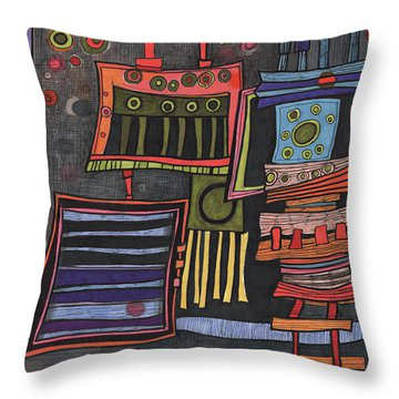 Lurking Under The Bed Throw Pillow by Sandra Church