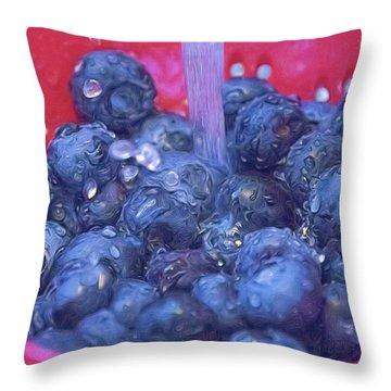 Luscious Berries Throw Pillow