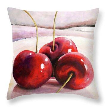 Luscious Cherries Throw Pillow by Toni Grote