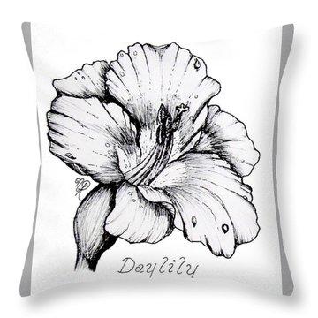 Luscious Daylily  Throw Pillow