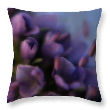 Luscious Lilac Throw Pillow by Bonnie Bruno