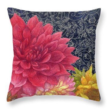 Lush Fall Botanical Throw Pillow