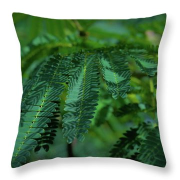 Lush Foliage Throw Pillow