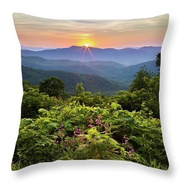 Lush Sunset In June Throw Pillow