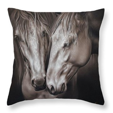 Lusitano Pair Throw Pillow