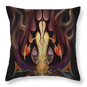 Throw Pillow featuring the painting Lust by Alan Johnson