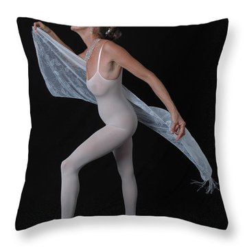 Throw Pillow featuring the photograph Lustful Dance by Nancy Taylor