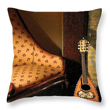 Lute Throw Pillow by Susan Savad