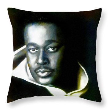 Luther Vandross - Singer  Throw Pillow