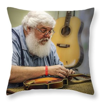 Luthier Throw Pillow
