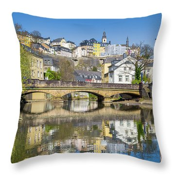 Luxembourg City Throw Pillow by JR Photography