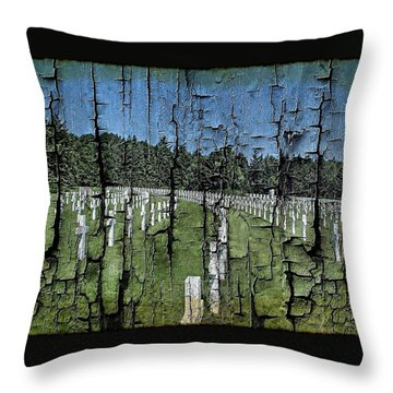 Luxembourg Wwii Memorial Cemetery Throw Pillow