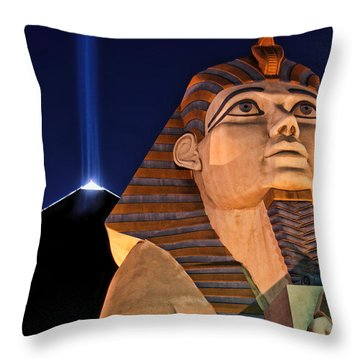 Throw Pillow featuring the photograph Luxor by Tammy Espino