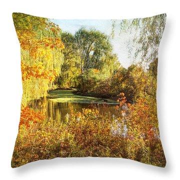 Luxurious Autumn Throw Pillow