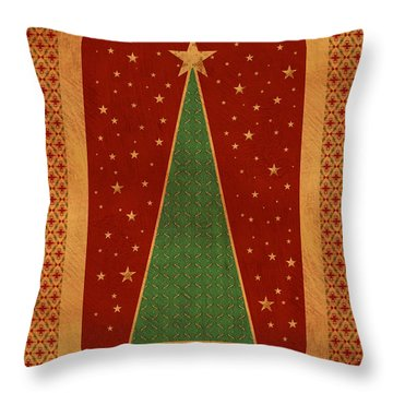 Luxurious Christmas Card Throw Pillow