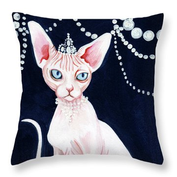 Luxurious Sphynx Throw Pillow