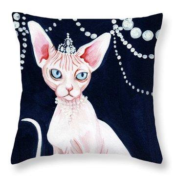 Luxurious Sphynx Throw Pillow