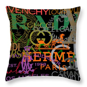 Luxury Fashion Throw Pillow