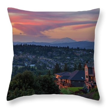 Luxury Homes In Happy Valley Oregon Throw Pillow by David Gn
