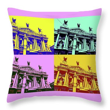 Lviv Opera House Throw Pillow
