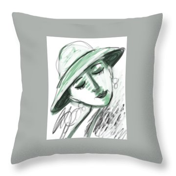 Lydia Throw Pillow by Elaine Lanoue
