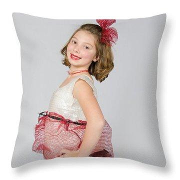 Lydia In Wraps Throw Pillow