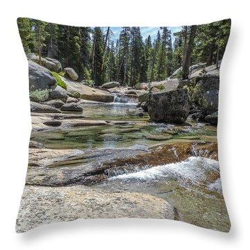 Lyell Fork Tuolomne River Yosemite National Park Throw Pillow