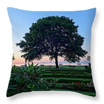 Lynch Park At Dawn Beverly Ma Throw Pillow