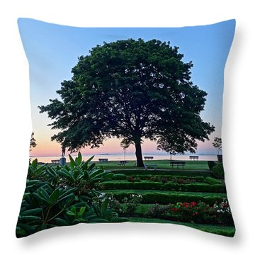 Lynch Park At Dawn Beverly Ma Throw Pillow