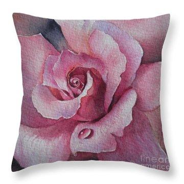Lyndys Rose Throw Pillow