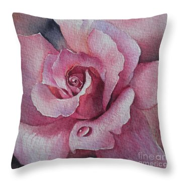 Throw Pillow featuring the painting Lyndys Rose by Sandra Phryce-Jones