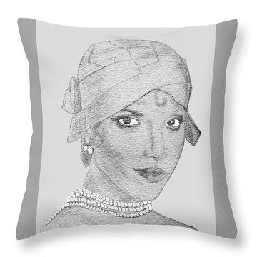 Lynn As Josephine Throw Pillow