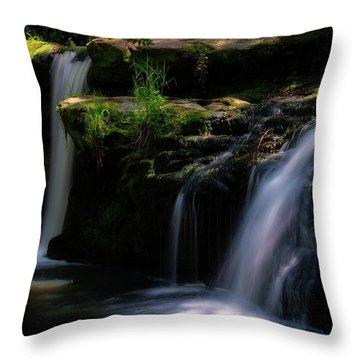 Throw Pillow featuring the photograph Lynn Mill Waterfalls by Jeremy Lavender Photography