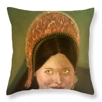 Lynne Frederick As Queen Katherine Howard Throw Pillow