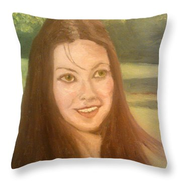 Lynne Frederick  Throw Pillow