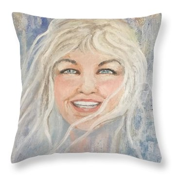 Lynnportrait Of A Young Woman  Throw Pillow