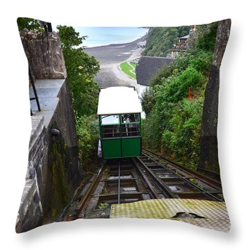 Lynton And Lynmouth Cliff Railway Throw Pillow