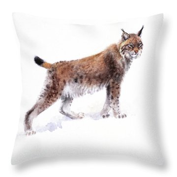 Lynx Throw Pillow