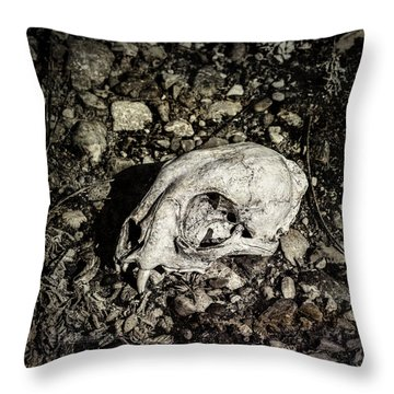 Lynx Skull Throw Pillow